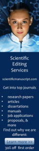 An image link to scientificmanuscript.com Scientific editing services.